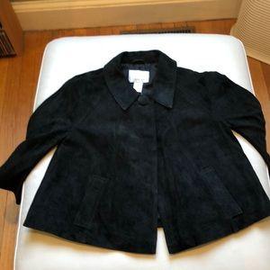 Spiegel black suede swing jacket